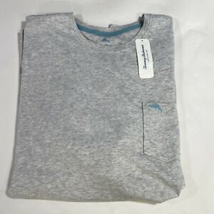 Tommy Bahama Mens Breeze Gray Bali Skyline Short Sleeve Pocket T-Shirt Size XL