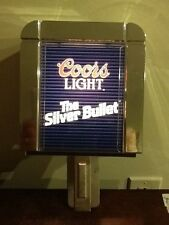Vintage Coors Light The Silver Bullet Lighted Wall Lamp Scone