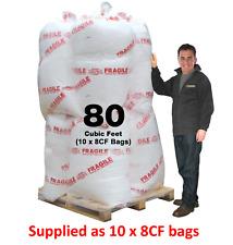 80 CF Fire Retardant Polystyrene Bean Bag Beads Filling Refill Top up