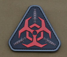 "PVC / Rubber Patch ""Ninja Biohazard"" with VELCRO® brand hook"