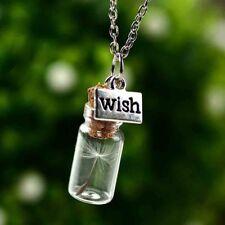 Drift bottle glass bottle dandelion necklace pendant