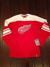 Detroit Red Wings Red Youth Medium Long Sleeve Shootout T-Shirt . NEW NHL Hockey