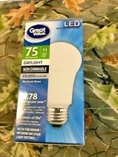 Led 11w Bulbs daylight 75w Replacement 1150 Lumens medium base New