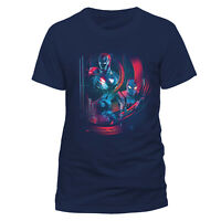 OFFICIAL Avengers Ironman & Spider-man T Shirt Infinity War Movie Poster Marvel