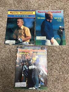 Vintage Jack Nicklaus Sports Illustrated Magazine Lot (3) 1971,1972& 1978 Golf