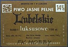 Poland Brewery Lublin Lubelskie Beer Label Bieretikett Etiqueta Cerveza lu47.1