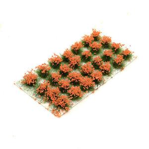 Green Mini Grass Model Cluster Fake Flower Bushes Building Landscape Material