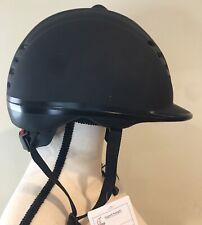 Matte Black Moon Equestrian Helmet