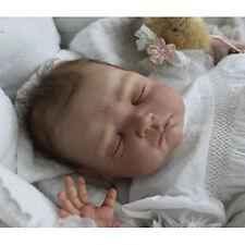 USA Baby Newborn Dolls Kit Vinyl Head 3/4 Limbs Unpainted Reborn Silicon Doll