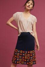 Anthropologie Harlyn Square Knit Crochet Skirt Size Medium