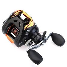 Mini Fishing Line Wheel Spinning Reel / 10+1 Ball Bearings Gold and Black 213g