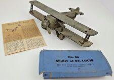 Antique MetalCraft Spirit of St. Louis Pressed Steel Toy Model Airplane w/ xtras