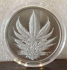 1 oz .999 fine silver King Cannabis Silver Shield marijuana, pot, limited rare