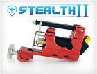 STEALTH 2.0 Aluminum Rotary Tattoo Machine Motor Liner Shader 3 Bearings RED