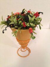 VTG Button Bouquet-Bittersweet cone-Autumn~Halloween~Country~Prim-Home Decor
