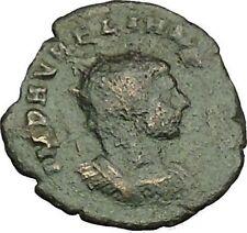 Aurelian  with globe power symbol & spear  Authentic Ancient Roman Coin i40395