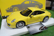 PORSCHE 911 CARRERA S 991 jaune 2011 1/18 MINICHAMPS 100061021 voiture miniature