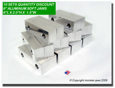 "(10 PACK) 6 x 2 x 1.5"" Standard Aluminum Soft Jaws Set Fits Kurt 6"" Vises USA"