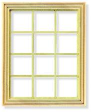 1 12 Scale Georgian 12 Pane Window Frame Dolls House Miniature Accessory 004