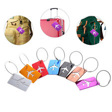 7pcs Air Plane Luggage Tag Baggage Handbag ID Tag Name Card Holder & Key Ring