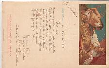 REGNO-CARTONCINO NAVIGAZIONE GENERALE ITALIANA-Menù di bordo 19.11.1911