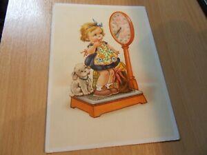 Künstlerkarte - Lungershausen - Kind auf der Waage