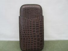 Vintage Brown Crocodile Leather Cigar Case