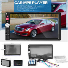 7'' Bluetooth Touch Screen 2-Din Car Truck MP3 MP5 FM AUX Player Stereo Radio TF
