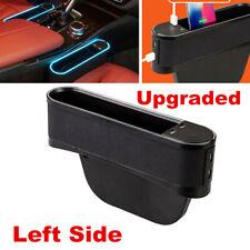 Left Leather Car Pocket Box Seat Gap Slit Pocket Storage Organizer 4 USB Ports