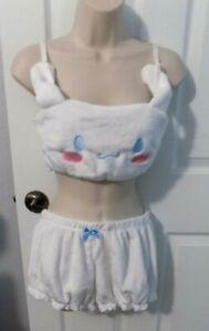 Cute White Bunny Ear  Sleepwear Pajamas- SIZE M -NIP