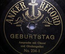 """ANSPRACHE / VOGELSTIMMEN... """"Geburtstag / Die Mühle im Schwarzwald"""" Anker Record"""