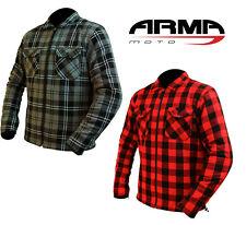 Moto Camicia a Quadri Da Armr Con Aramid C.E Protezioni Moto Custom