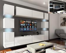 Moderne Wohnwand Schrankwand Hochglanz Wohnzimmer Concept 14 inkl.LED