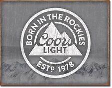 Coors Light Born In Silver Bullet Beer Retro Wall Bar Pub Decor Metal Tin Sign