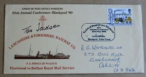 UNION OF POST OFFICE WORKERS CONFERENCE 1980 COVER SIGNED BY Gen Sec TOM JACKSON