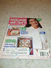 McCall's Needlework & CRAFTS Knitting, Quilting Paintin& More Magazine  JUN 1992