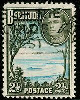 BERMUDA SG113b, 2½d pale blue & sepia-black, FINE USED.