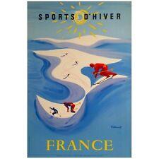 AFFICHE RETRO BERNARD VILLEMOT - 50x70cm Envoi roulé - Sports d'hiver