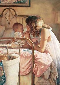 Steve Hanks - Mother Child Bond - 219/1500 In Mint  COA Very Rare 1993
