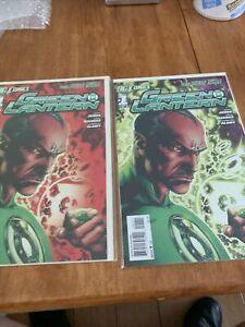 Green Lantern 1 Regular Plus 2nd Print Variant Really Nice Comic Book Lot!