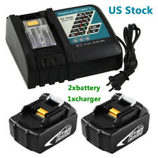 2x6.0AH Replace for Makita 18V Battery BL1860 and 1xFor Makita DC18RC Charger