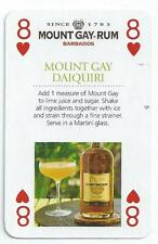 DRINKS - SINGLE PLAYING CARD - MOUNT GAY RUM - EIGHT OF HEARTS (APSH)