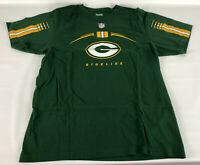 Green Bay Packers Reebok T-Shirt - Sideline Green NFL - Size Large L
