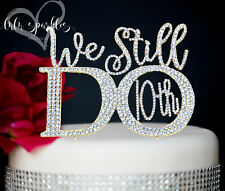 Gold 10th Wedding Anniversary Rhinestone Number Cake Topper party decoration