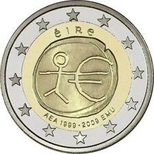 2 Euro Commémorative IRLANDE 2009 - 10e Anniversaire de l'Union écon - UNC NEUVE