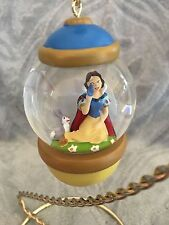 Disney 30th Anniversary Snow Globe  Snowglobe Sketchbook Snow White Ornament NEW