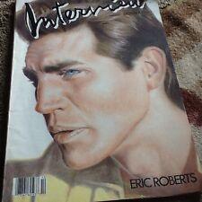 vintage Interview magazine Eric Roberts. Oct 1986