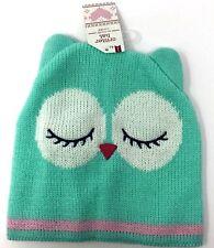Cute Sleeping Owl Stocking Hat Winter Knit Beanie Cap Boys Girls One Size ~ NWT