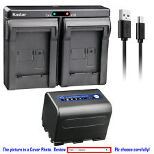 Kastar Battery Dual USB Charger for Sony NP-QM71D & Cyber-shot DSC-F828 DSC-R1
