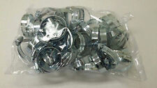 """50pc Hose Clamps 1 1/4"""" - 2 1/4"""" Radiator Sold Adjustable stainless Zinc LOT"""